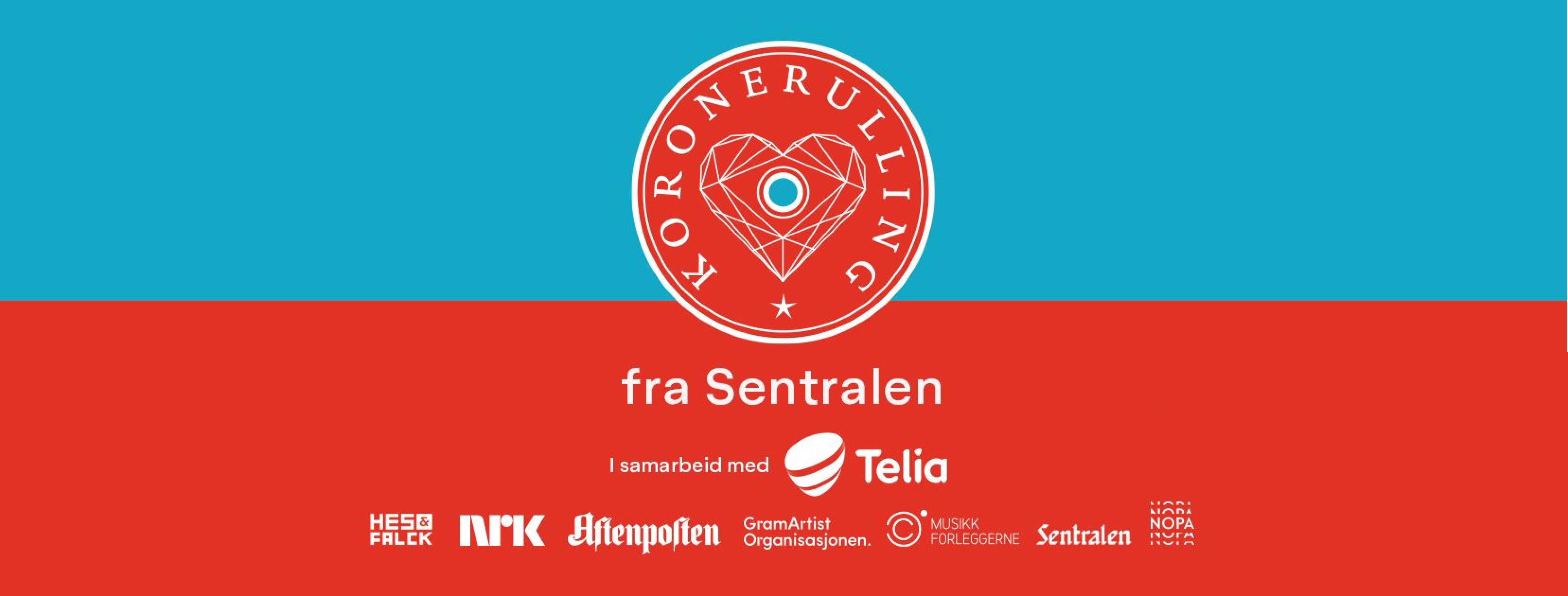 Koronerulling banner med logo