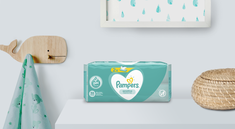 Pampers Sensitive törlőkendők