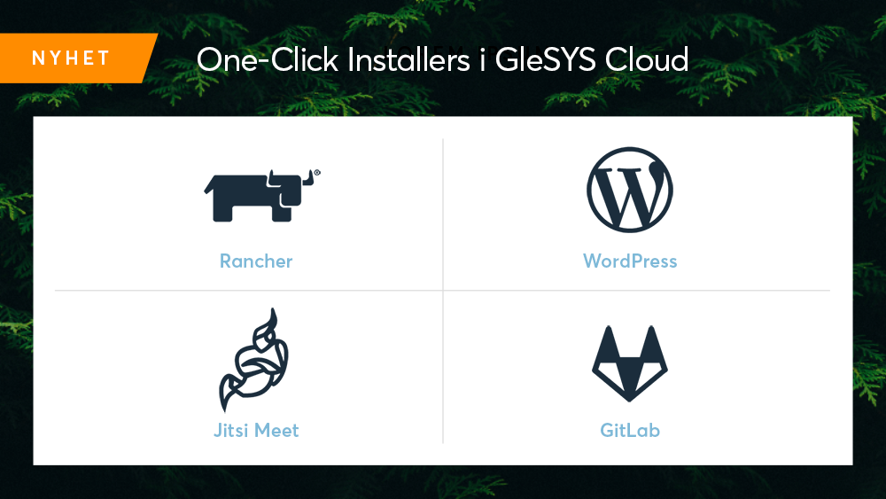One-Click Installers i GleSYS Cloud