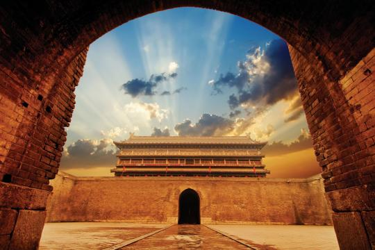 CN China Shaanxi China Xian Stadtmauer 04