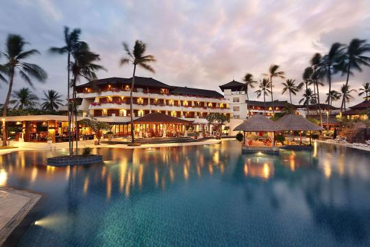 IDDPSNUSAD Nusa Dua Beach Main Pool Evening