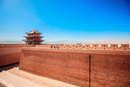 CN China Jiayuguan Große Mauer Stadttor the-great-wall-2840207