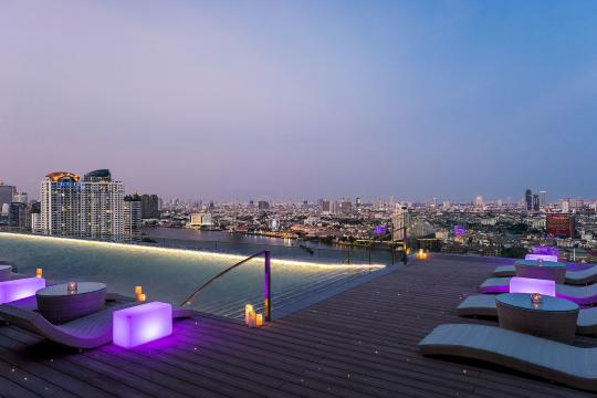 THBKKAVANI Avani+ Riverside Bangkok AVANI Riverside Bangkok Hotel Roof Top Pool Sunset