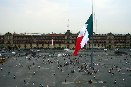 MX Mexiko Mexico city zocalo