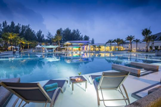 THHKWATERS The Waters Khao Lak by Katathani The Waters - Main Pool Night time (2)