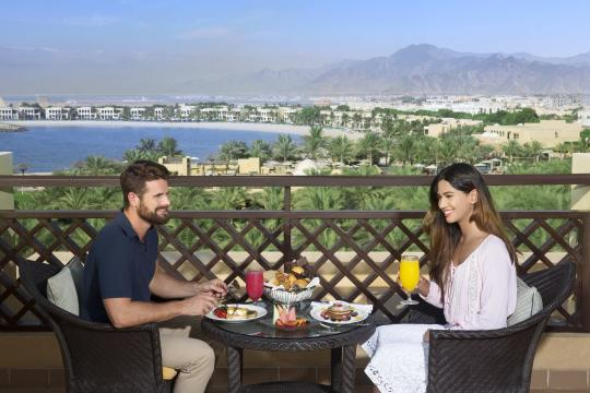 AEDXBHIRAS Hilton Resort & Spa Ras Al Khaimah Breakfast in Room