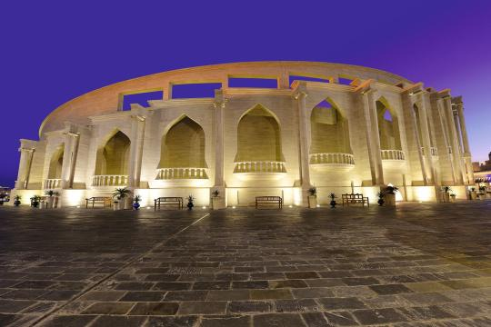 QA Katar Katara by night