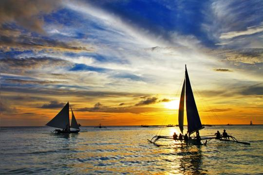 PH Philippinen Boracay Sunset