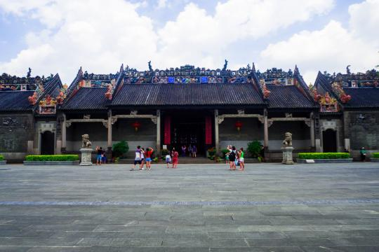 CN China Guangdong chen-jia-ci, ancestral hall of Chen clan academy, Guangzhou, CHINA shutterstock 727285387
