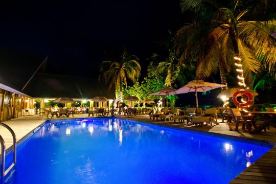 SCSEZINDIA Indian Ocean Lodge Pool by night