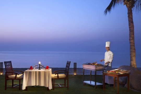 AEDXBHIRAS Hilton Resort & Spa Ras Al Khaimah Beach Villa Barbecue