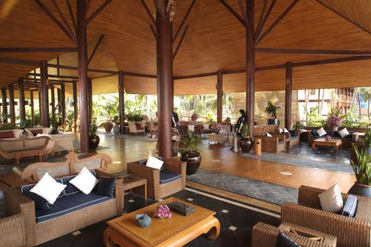 MMBSXTREAS Myanmar Tresure Beach Resort The Lobby