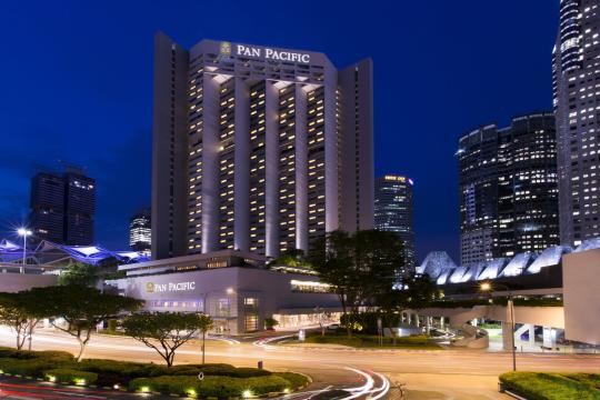 SGSINPANPA The Pan Pacific Singapore exterior night - Copy