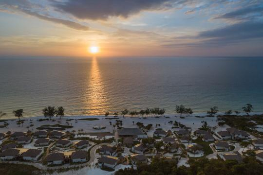 KHPNHROYSA The Royal Sands Koh Rong Aeriel View Sunset