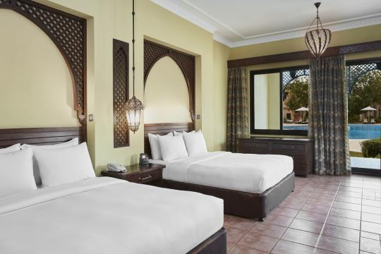 AEDXBHIRAS Hilton Resort & Spa Ras Al Khaimah Superior Pool View Beach Villa Bedroom