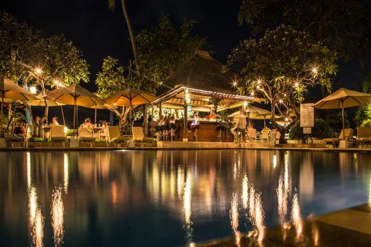 IDDPSTHELO The Lovina Bali Beachbar at Night