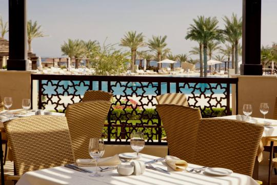 AEDXBIBERO Miramar Al Aqah Beach Resort by Iberotel Restaurant Terrace