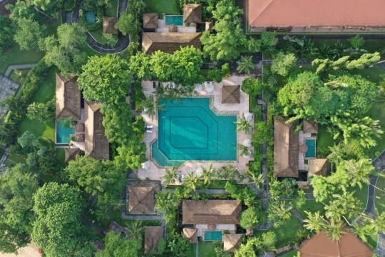 IDDPSMELI2 Melia Bali The Level Pool Aerial View