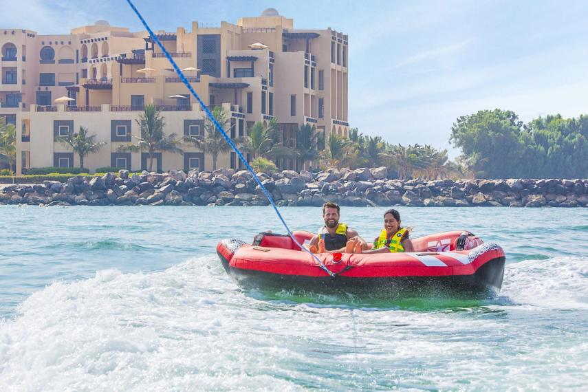 AEDXBHIRAS Hilton Resort & Spa Ras Al Khaimah Donut Ride at Watersports Center