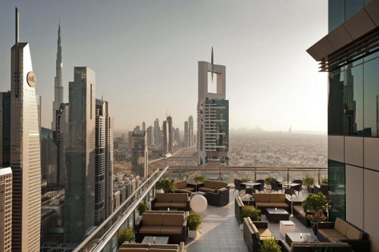 AEDXBFOUR1 Four Points Sheikh Zayed by Sheraton Rooftop Lounge