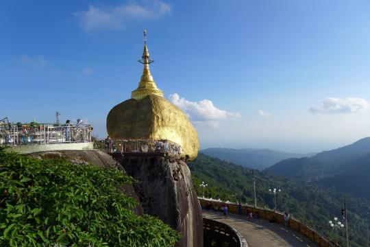 MM Myanmar Burma Golden Rock 17