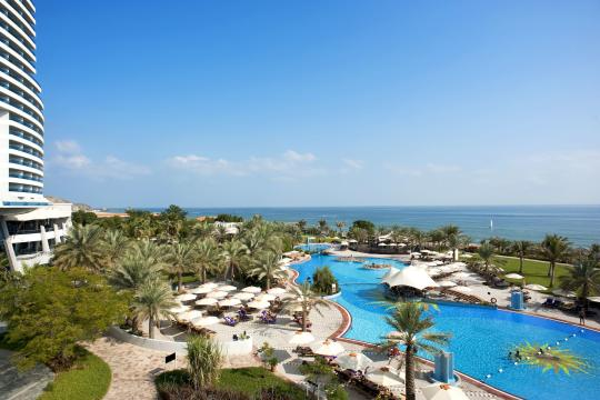 AEDXBALAQA Le Meridien Al Aqah Beach Resort merFJRMDex-92258-Exterior view - outdoor facilities-High
