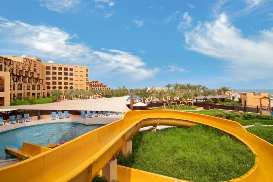 AEDXBHIRAS Hilton Resort & Spa Ras Al Khaimah Kids Club Pool and Slide