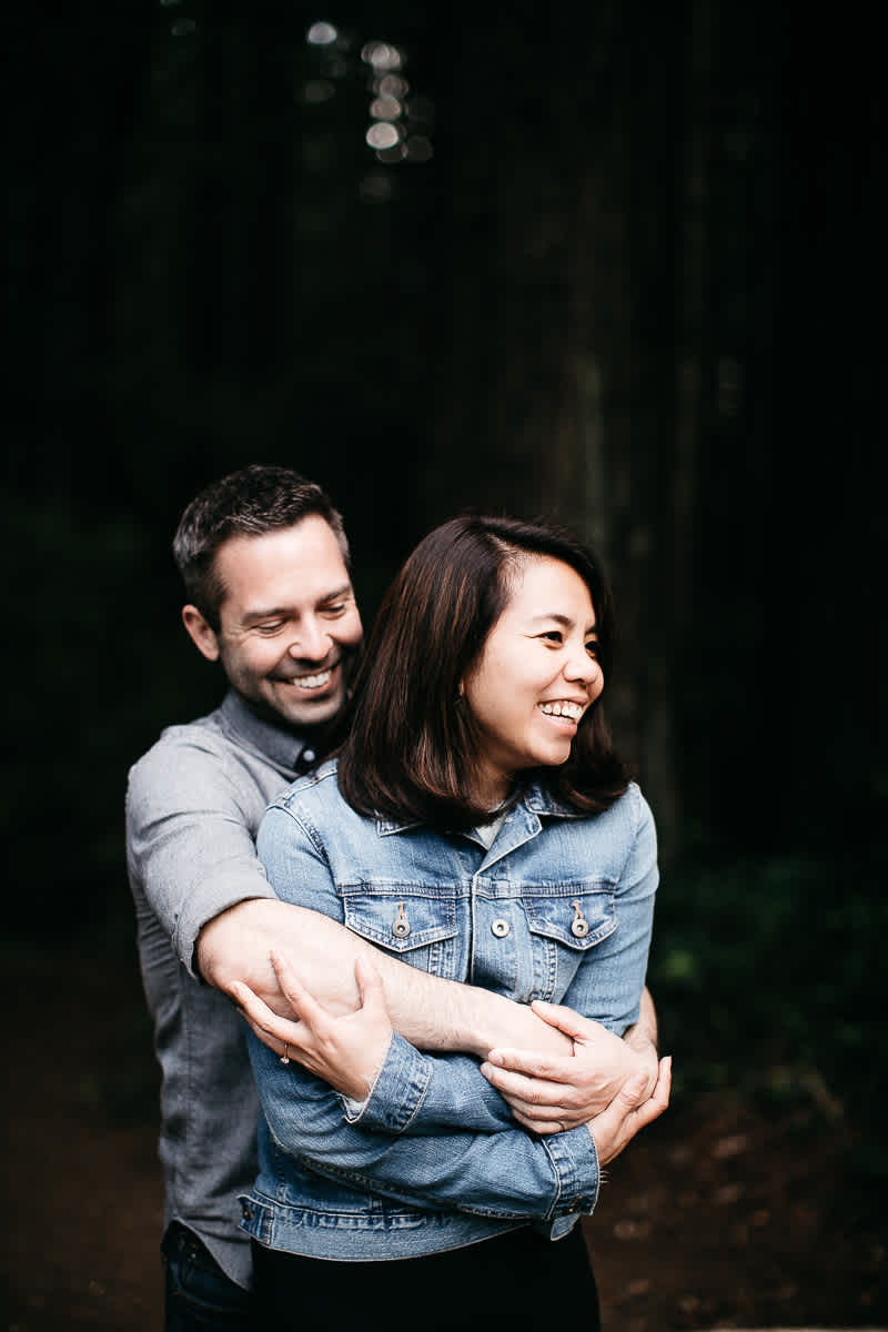 oakland-gloomy-redwood-engagement-session-with-puppy-39