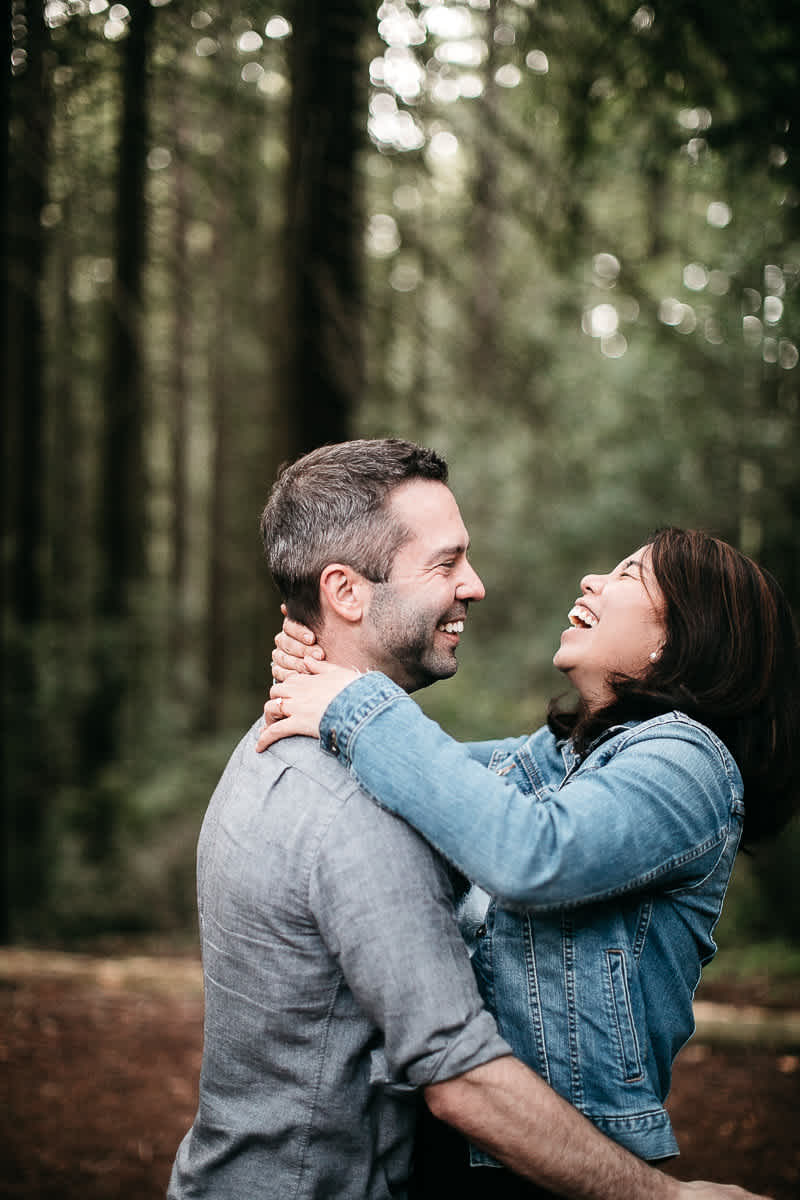 oakland-gloomy-redwood-engagement-session-with-puppy-34