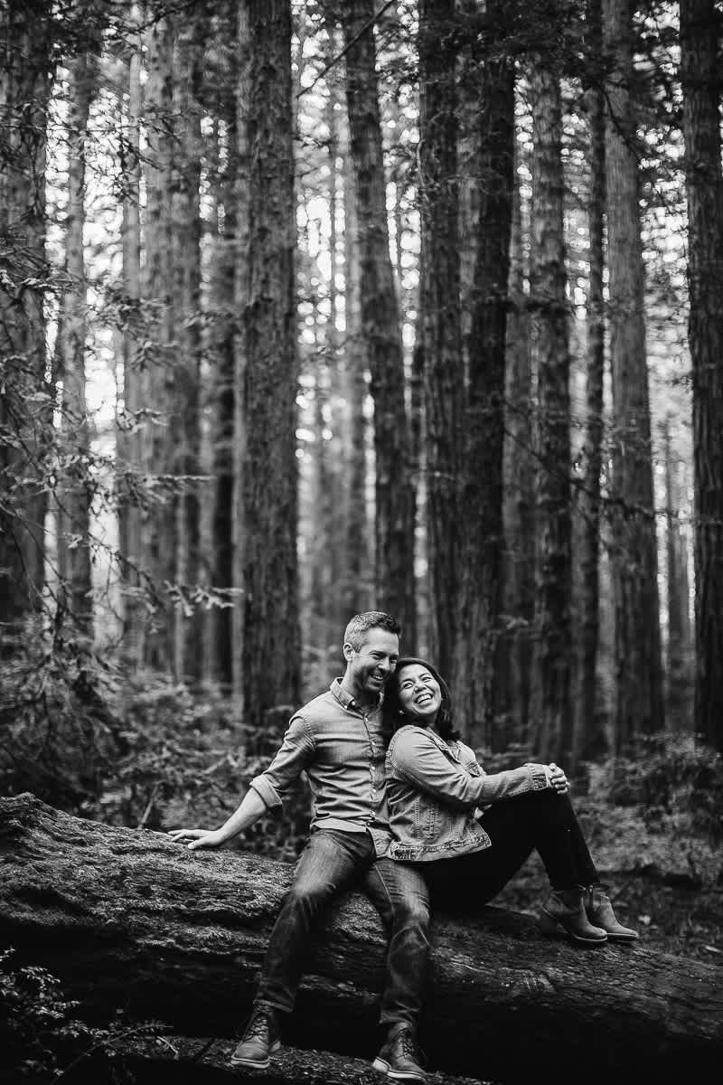 oakland-gloomy-redwood-engagement-session-with-puppy-7