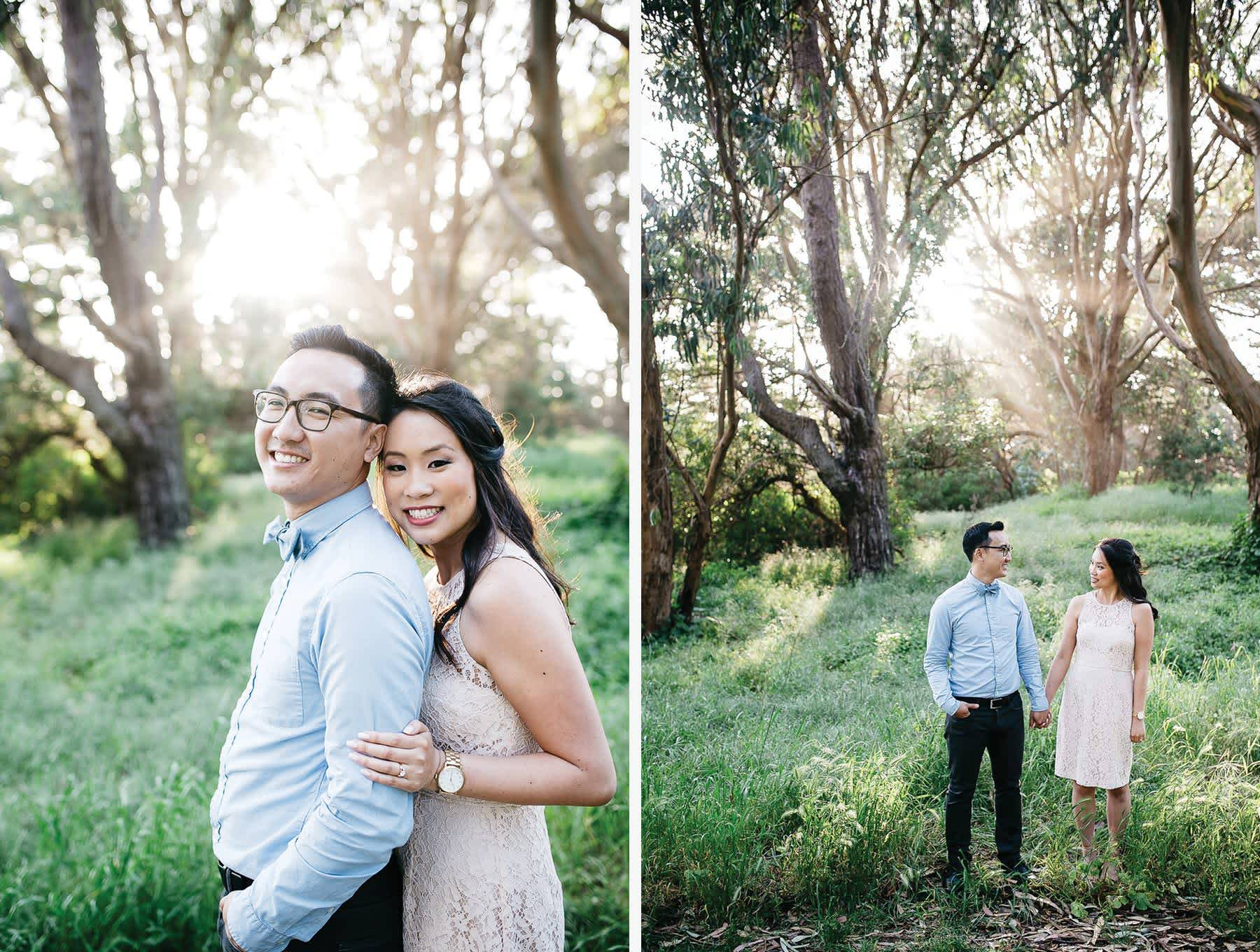 golden-gate-park-spring-engagement-session