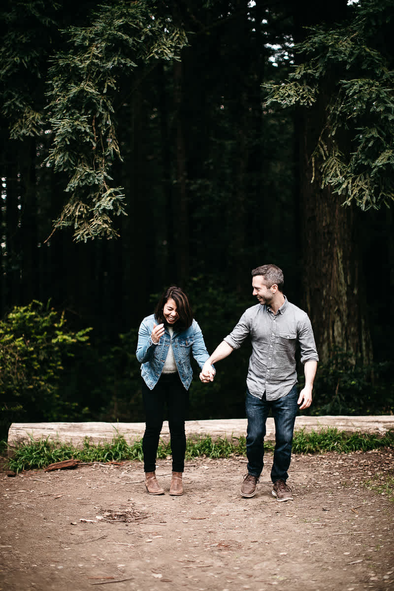 oakland-gloomy-redwood-engagement-session-with-puppy-46