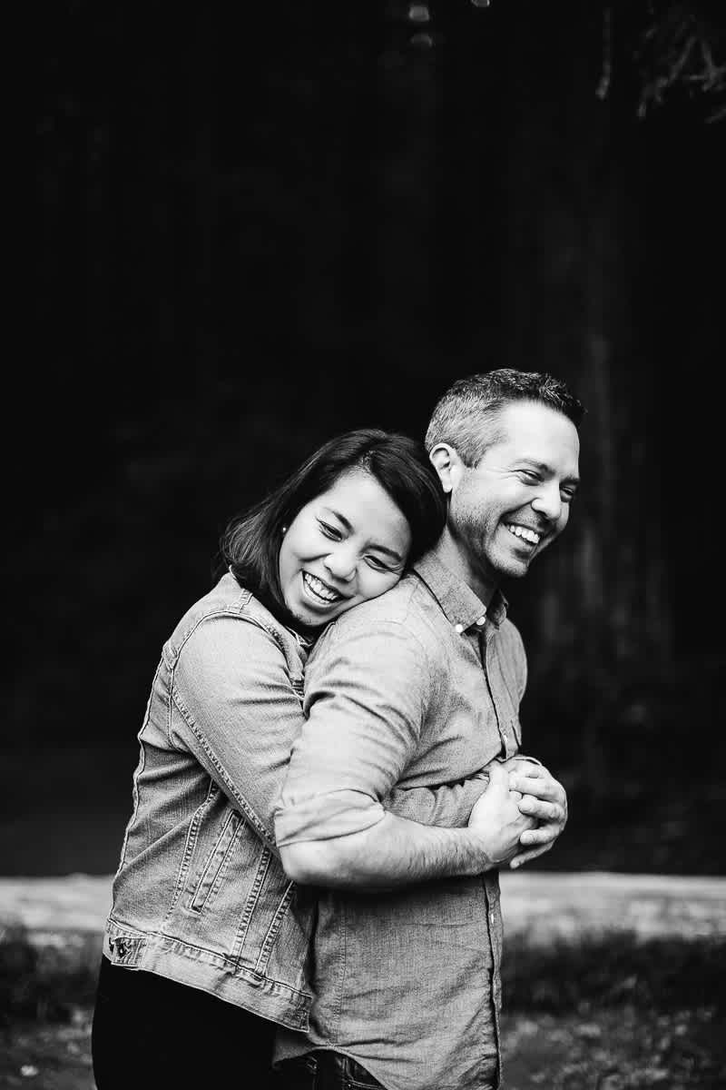 oakland-gloomy-redwood-engagement-session-with-puppy-45