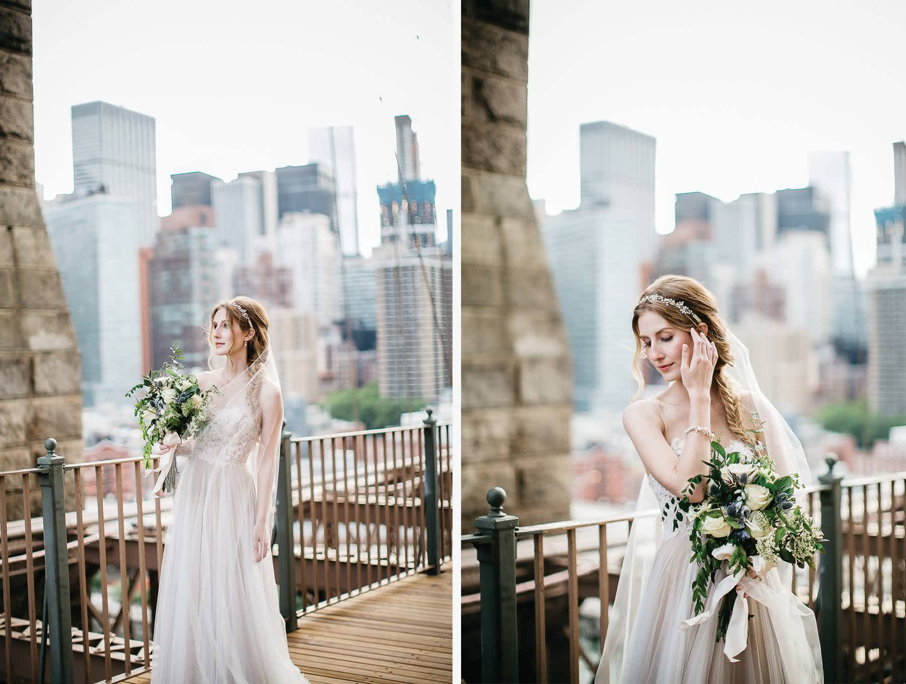 bride-brooklyn-bridge-bhldn-dress-nyc