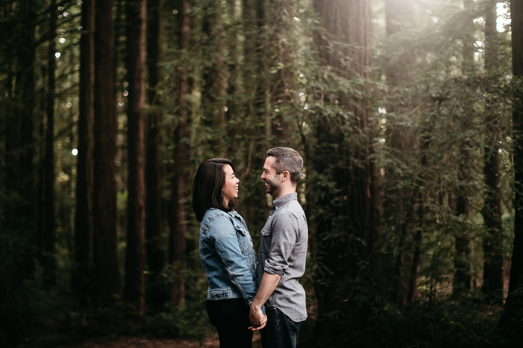 oakland-gloomy-redwood-engagement-session-with-puppy-4
