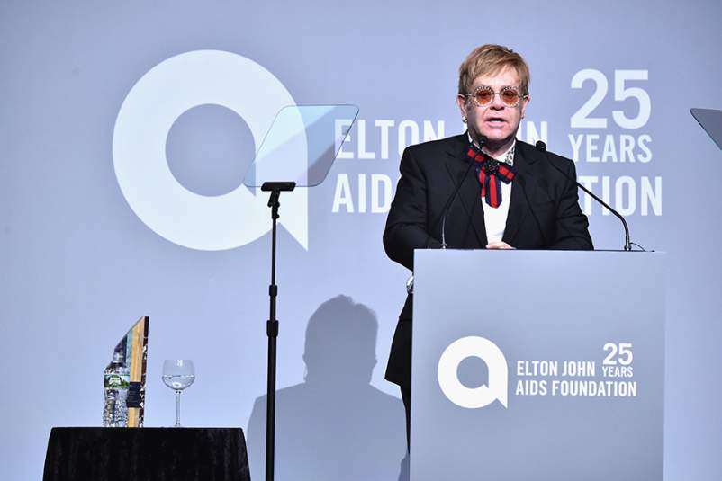 Elton John AIDS Foundation Commemorates its 25th Year and honors Founder Sir Elton John