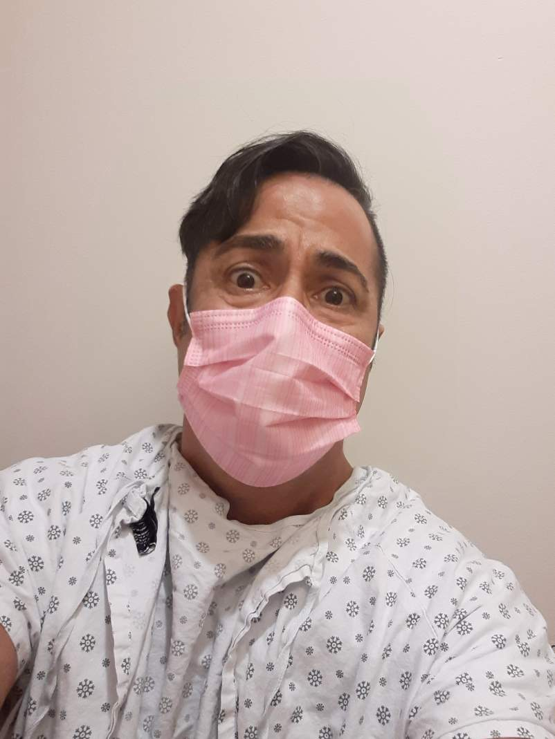 Charles Sanchez at his colonoscopy appointment