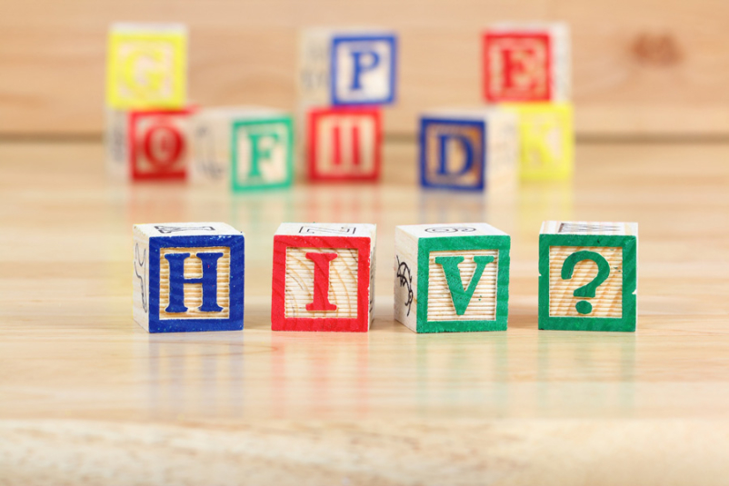 letter blocks spelling HIV