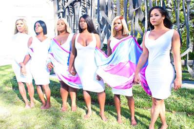 Members of WeCareTn: Halenia Crews, Chanel Adams, Jamaya Carter, Katrina Spencer, Na'Porsha Latrice, and Jasmine Tasaki