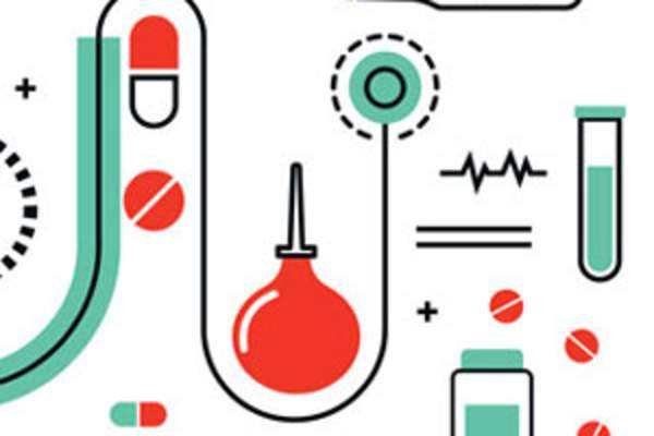 collage of medicine-related icons