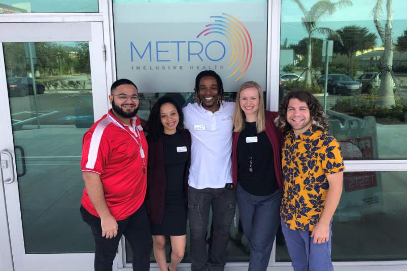 Robert Marquez Keonna Gilmore Precshard Williams Rebecca Nessen Tommy Wright credit Metro Inclusive Health