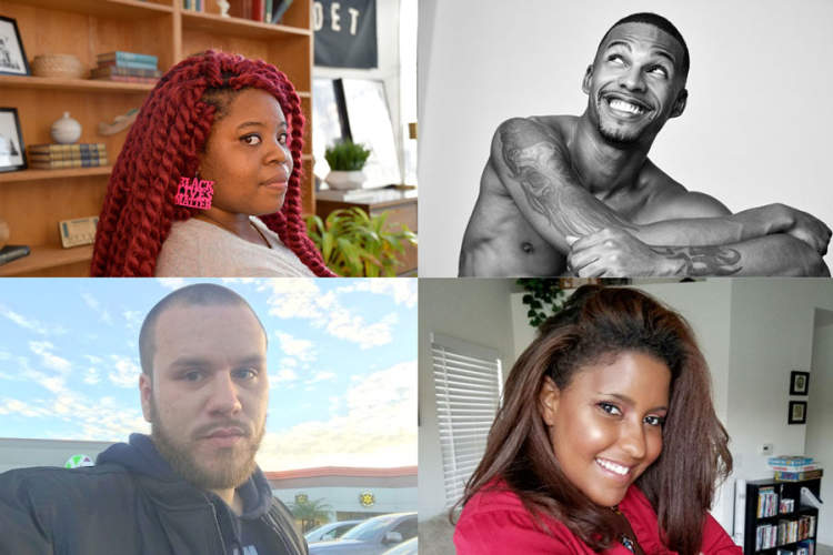 collage of people featured in TheBody's HIV Resource Center for Young Adults