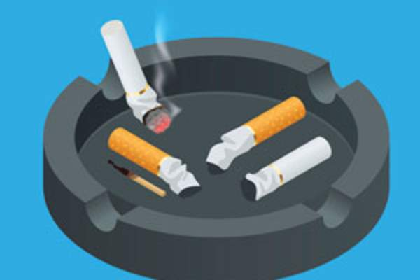 Rendering of cigarettes in an ashtray