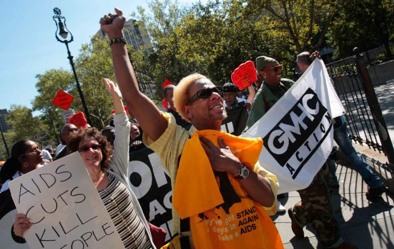 AIDS Activists Hold March And Rally In New York City