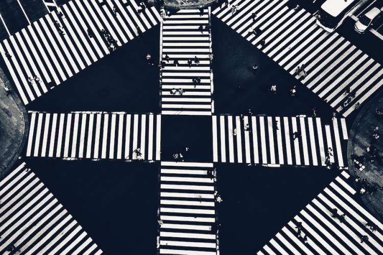 positive crosswalk