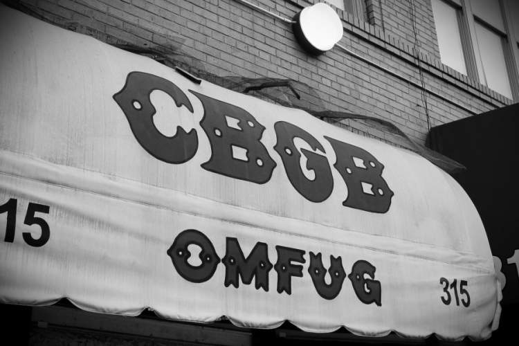 CBGB, New York City, Manhattan, Historical New York Landmark, Black & White