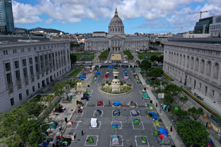 SF tent camps in COVID-19 times