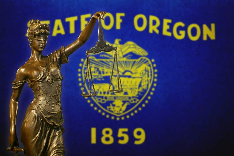 Oregon flag Justice