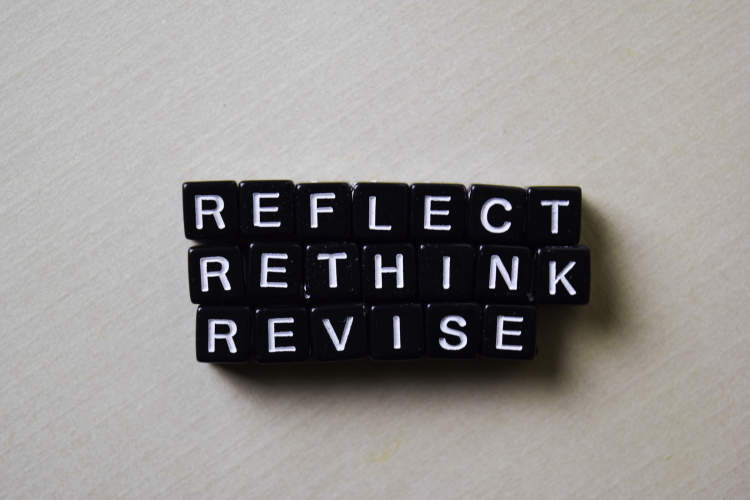 reflect rethink revise