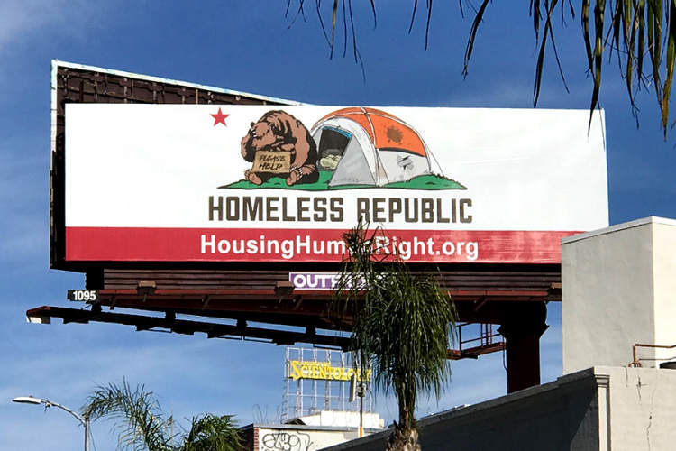 AHFs Affordable Housing Campaign on LA Billboard